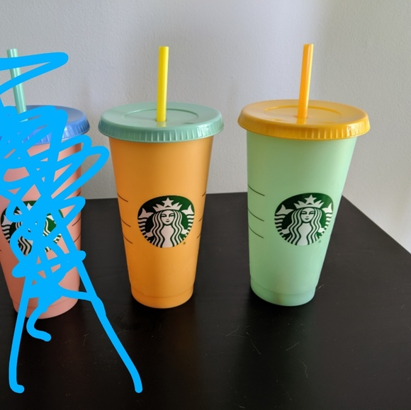 Brand New Starbucks Color Changing Cold Drink Cups Nwt